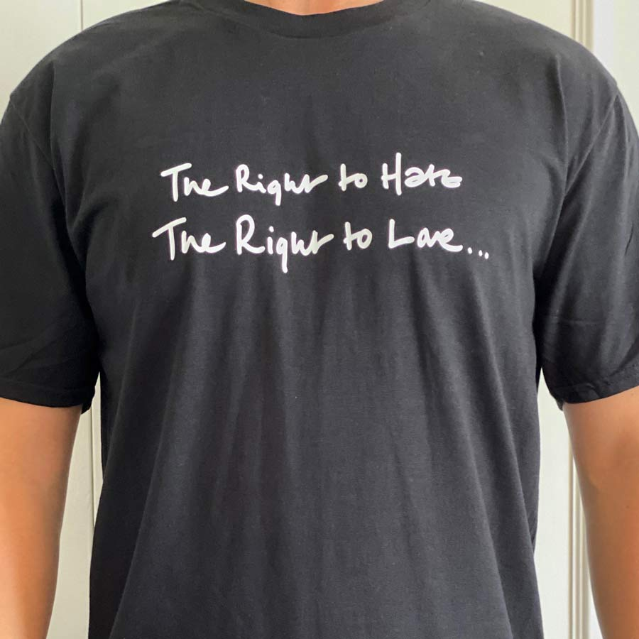 right to hate t shirt men's